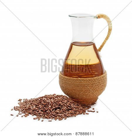 Linseed Oil With Flax Seeds