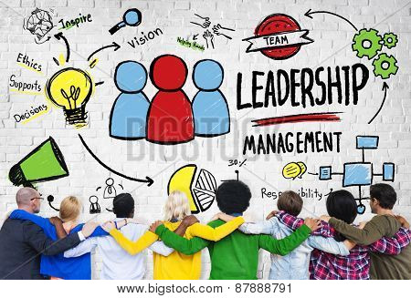 Diversity Casual People Leadership Management Team Support Concept