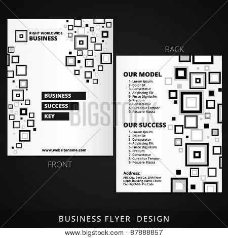 creative brochure flyer vector design illustration
