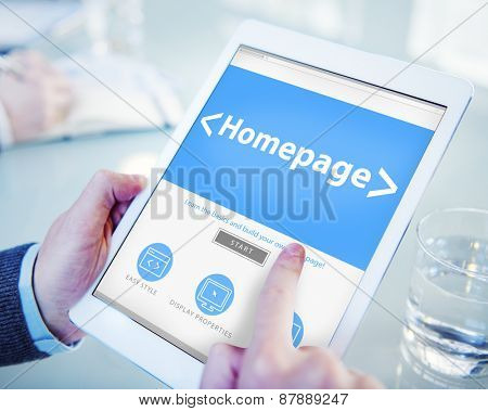 Digital Online Homepage Web Page Office Working Concept