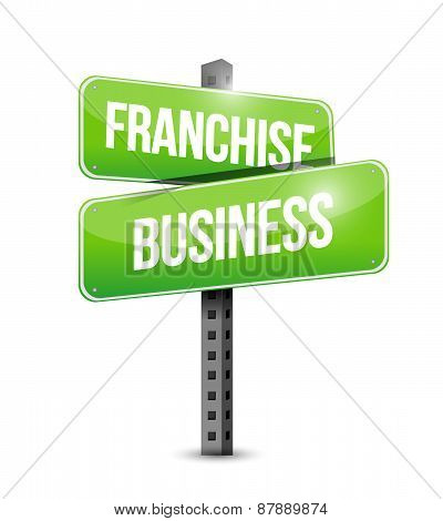 Franchise Business Road Sign Illustration Design