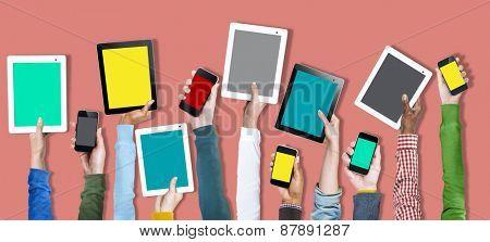 Digital Device Online Technology Social Media Concept
