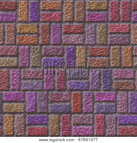 Brick Pavement Generated Teture