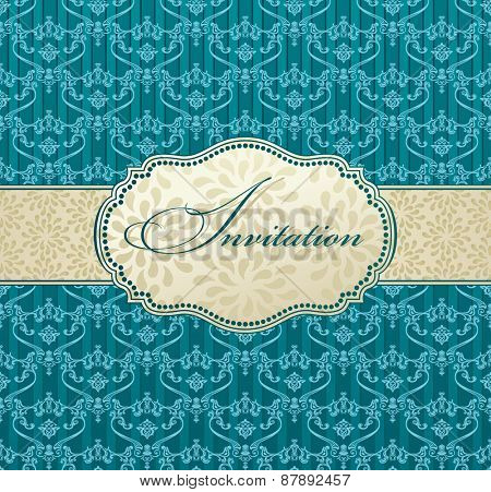 invitation art vector frame package label vintage with retro abstract background card