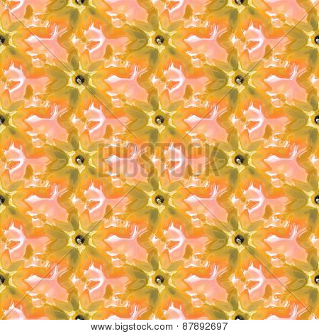 Color Flower Seamless Pattern Generated Texture