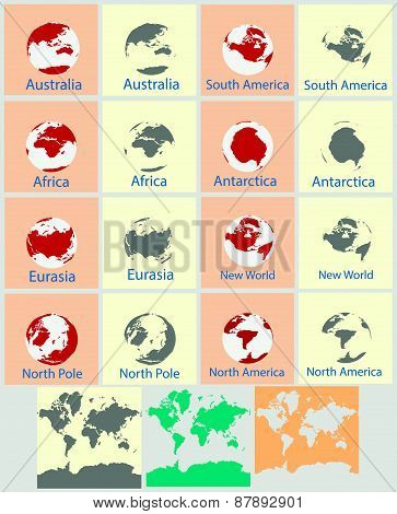 Modern elements of info graphics World Map.