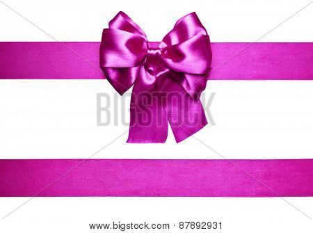 purple bow and ribbon made from silk