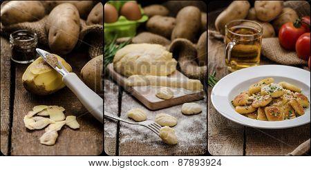 Peeling Potatoes For Gnocchi Dougn On