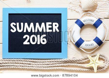 Summer 2016 written on blackboard