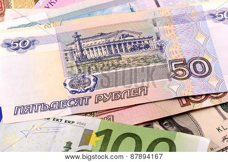 european money set background, financial and business concept