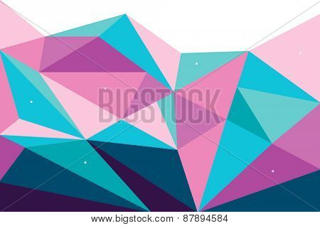 Vector Abstract geometric polygonal background