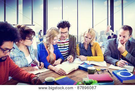 Study Group Discussion University Concept