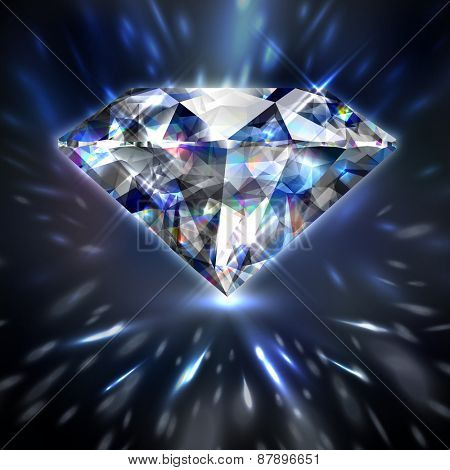 Dazzling shiny colorful diamond background   - raster version