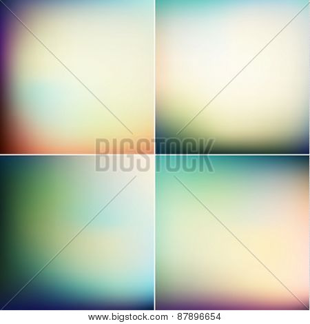 Abstract spring backgrounds set - raster version