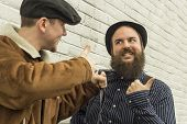 picture of newsboy  - Two silly enemies great through clenched teeth - JPG