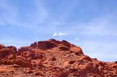 foto of valley fire  - Red rocks in Valley of fire State park in Nevada - JPG