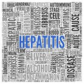 pic of hepatitis  - Close up HEPATITIS Text at the Center of Word Tag Cloud on White Background - JPG