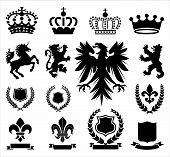 picture of coat  - Set of various heraldry ornaments - JPG