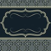 pic of damask  - Frame on seamless damask background - JPG