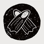 image of flipper  - Flippers Doodle - JPG