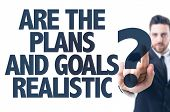 image of goal setting  - Business man pointing the text - JPG