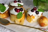 pic of curd  - Curd pudding with candied fruit and fresh berries - JPG