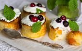 picture of curd  - Curd pudding with candied fruit and fresh berries - JPG