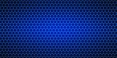 stock photo of graphene  - Widescreen blue background with a crystal lattice - JPG