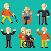 Постер, плакат: Older people Elderly activity elderly care comfort and communication in old age