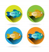 picture of fish icon  - Set - JPG