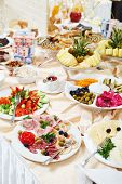 stock photo of catering  - restaurant buffet catering service - JPG