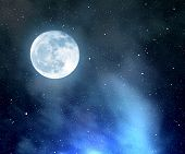 pic of moon stars  - Night sky with stars - JPG