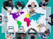 foto of globalization  - World Global Cartography Globalization Earth International Concept - JPG