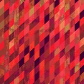 stock photo of parallelepiped  - Grungy mosaic background in pink tones - JPG