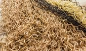 image of braids  - kanekalon material for building African braids on table - JPG