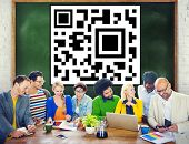 picture of qr-code  - QR Code Strategy Brainstorming Ideas Concept - JPG