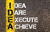 foto of daring  - Idea Dare Execute Achieve  - JPG