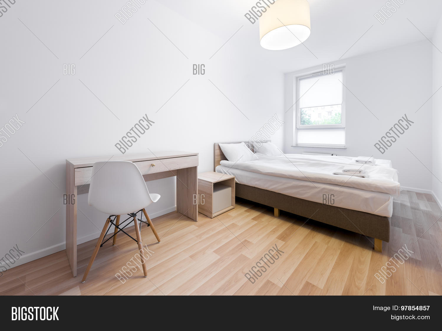 Modern small sleeping room interior image photo bigstock for Sleeping room interior design