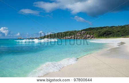 Grand Anse Tropical Beach, La Digue Island, Seychelles