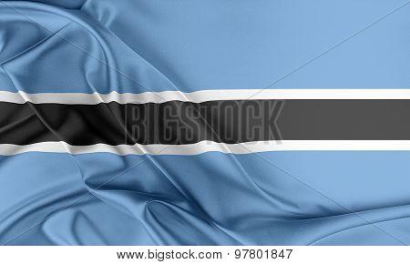Botswana Flag.