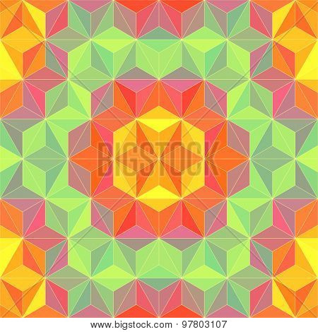 Vector Abstract Triangle Pattern