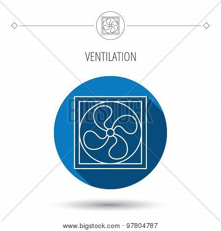 Ventilation icon. Fan or propeller sign.