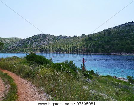 The entrance of the hidden bay of Lastovo