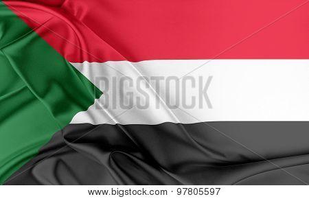 Sudan Flag.