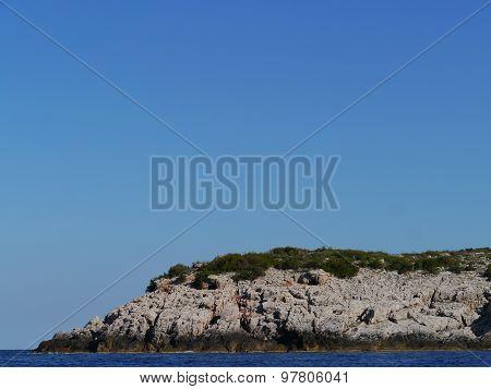 The island Lastovo in the Adriatic sea
