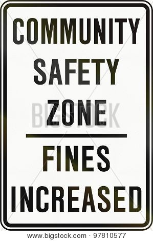 Community Safety Zone In Canada