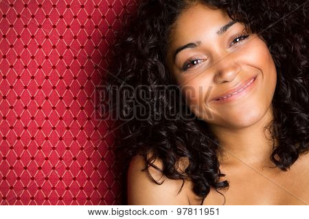 Beautiful smiling happy black woman