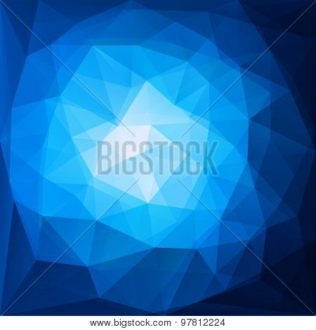 abstract blue triangular pattern design