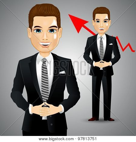 businessman with crossed hands