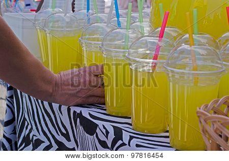 Cold home-made lemonade